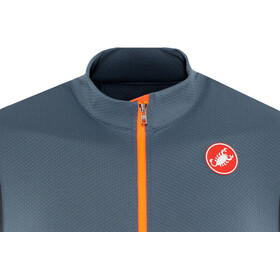 Castelli Entrata 3 FZ Sleeveless Jersey Men light steel/blue